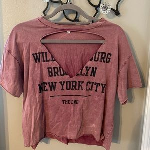 distressed graphic tee